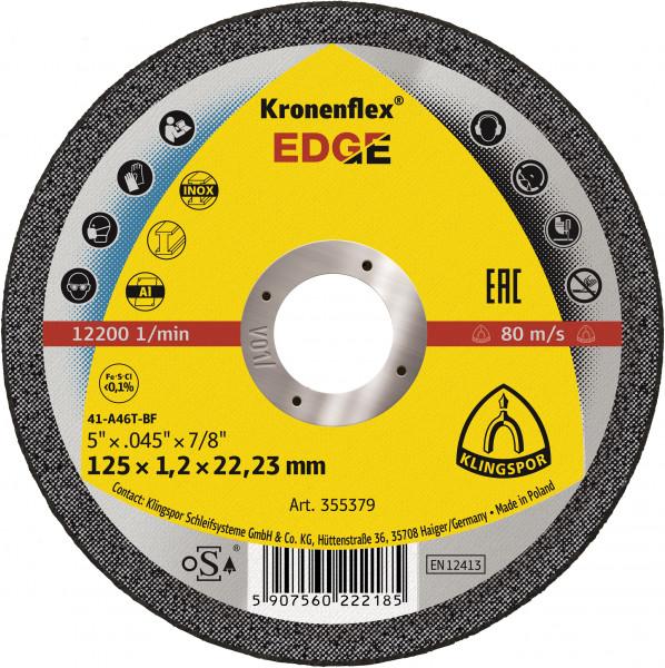 EDGE Trennscheibe 125 x 1,2 x 22,23 mm gerade