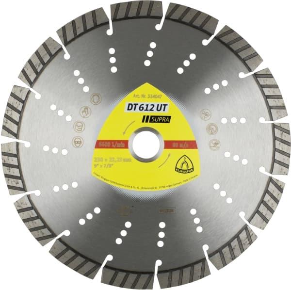 Diamanttrennscheibe DT 612 UT 230 x 2,6 x 22,23 mm Standard Turbo / 15 Segmente