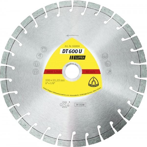 DT 600 U Diamanttrennscheiben 125 x 2,4 x 22,23 mm 15 Segmente 20 x 2,4 x 9 mm Kurzverzahnung